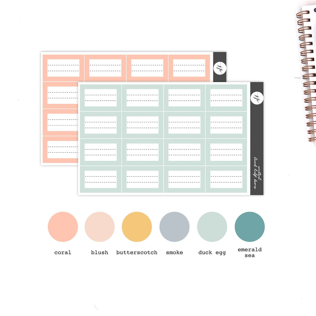 Spring - Lined Half Boxes Stickers || for Erin Condren Life Planner || Functional Stickers ||