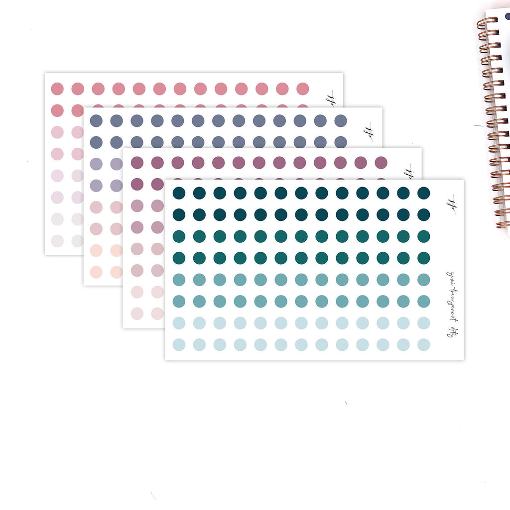 Semi Transparent Labels - Dots  || for Erin Condren Life Planner || Functional Stickers ||