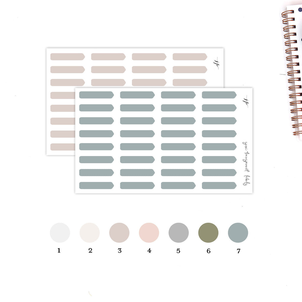 Neutral - Semi Transparent Arrow Stickers || for Erin Condren Life Planner || Functional Stickers ||