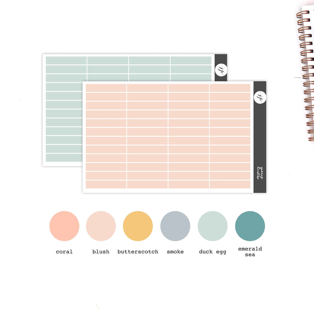 Spring - Headers Stickers || for Erin Condren Life Planner || Functional Stickers ||