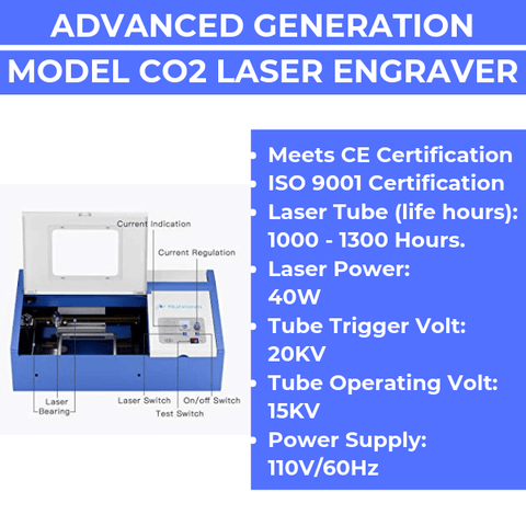 Premium 40W CO2 Laser Engraving & Cutting Machine