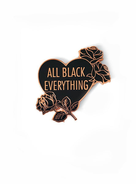 ALL BLACK PIN ROSE GOLD