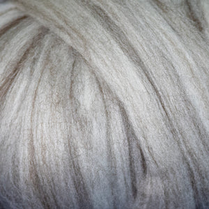 14.5 micron merino/brown yak closeup