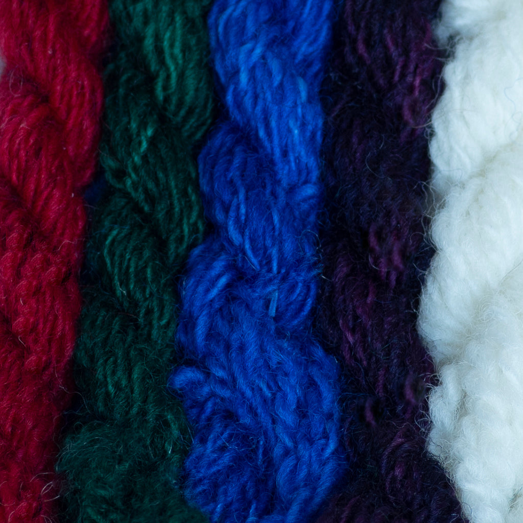 19.5 superwash merino dyed samples