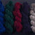 Mixed BFL/Rambouillet dyed samples