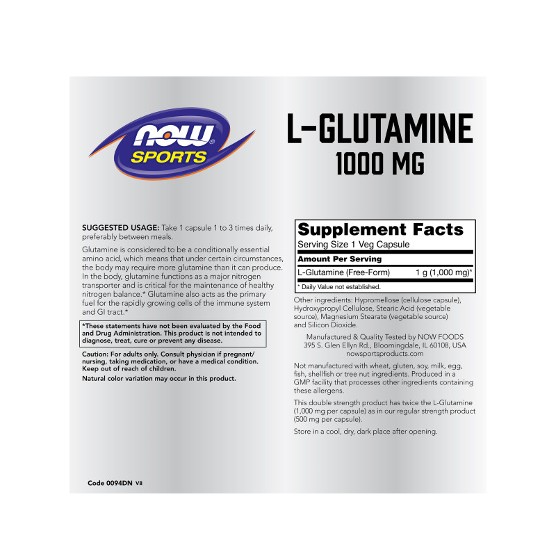 L-GLUTAMINE 1000mg 120 CAPS