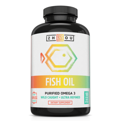 Zhou Nutrition Fish Oil Softgels 180ct