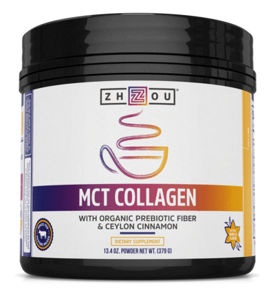 Zhou Nutrition MCT Collagen Powder 13.3oz Vanilla