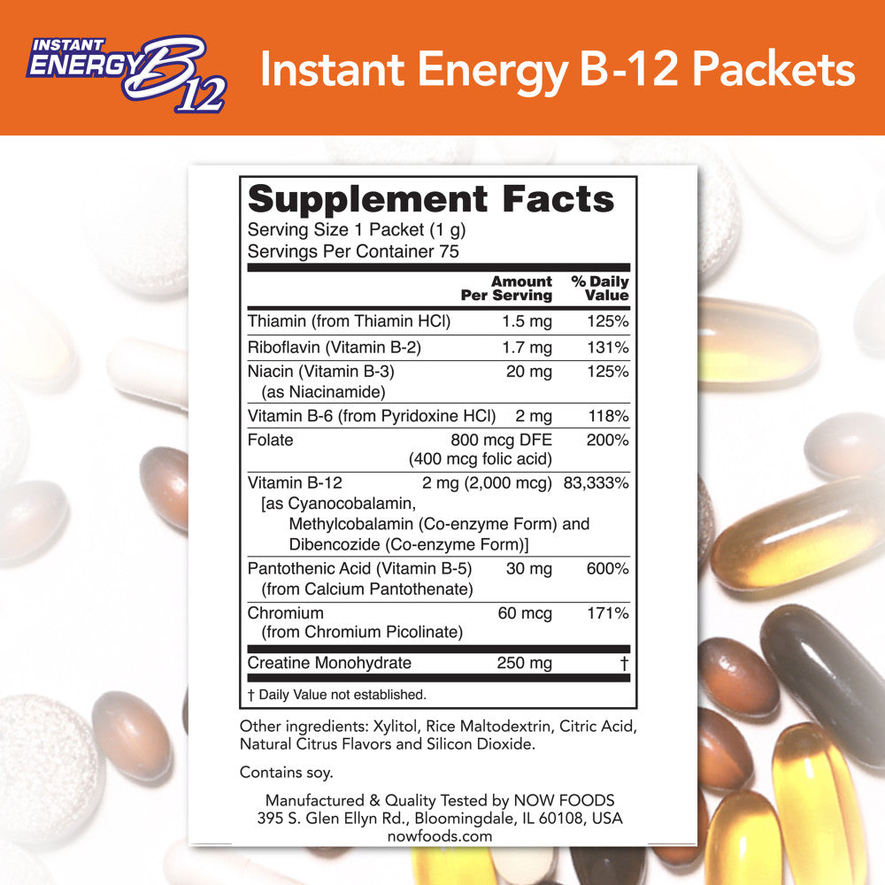 B-12 INSTANT ENERGY PACKETS 75/BOX
