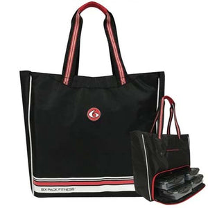 6 Pack Fitness Camille Tote Black & Red