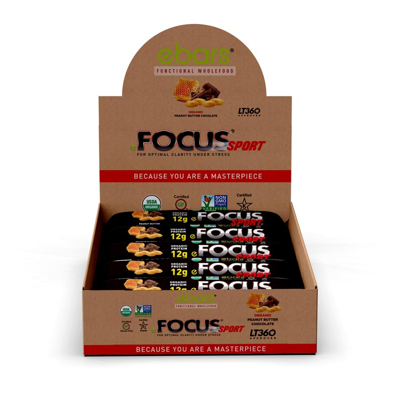Focus Sport Organic Peanut Butter Chocolate Bar