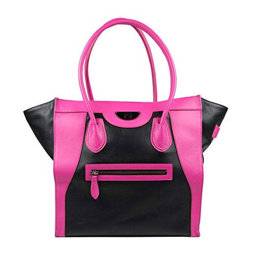 6 Pack Fitness Victoria Tote Black & Pink