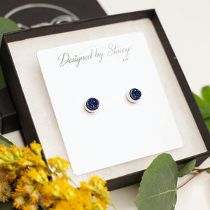 The Leighton Earrings in Blue