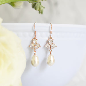 The Rose Earrings in Rose Gold