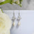 The Rose Earrings in Silver