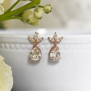 The Kate Earrings in Rose Gold