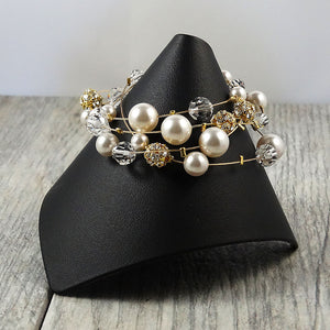 Statement Bracelet in Gold
