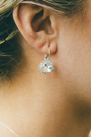 Sparkly Leverback Earrings