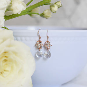 The Amelia Earrings in Rose Gold