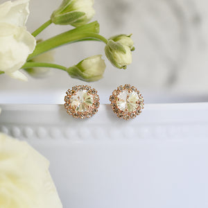 The Grace Earrings in Rose Gold