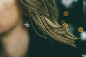 Dangly Snowflake Earrings