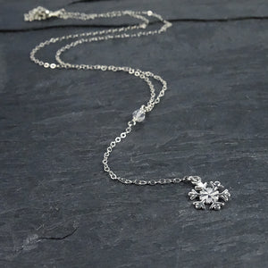 Silver Snowflake Necklace