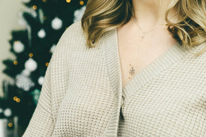 Dainty Snowflake Lariat Necklace