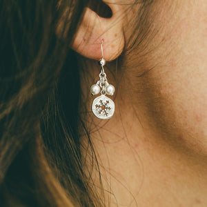 Silver Snowflake Earrings