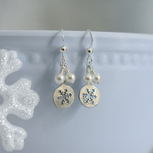 Sterling Silver Cutout Snowflake Earrings