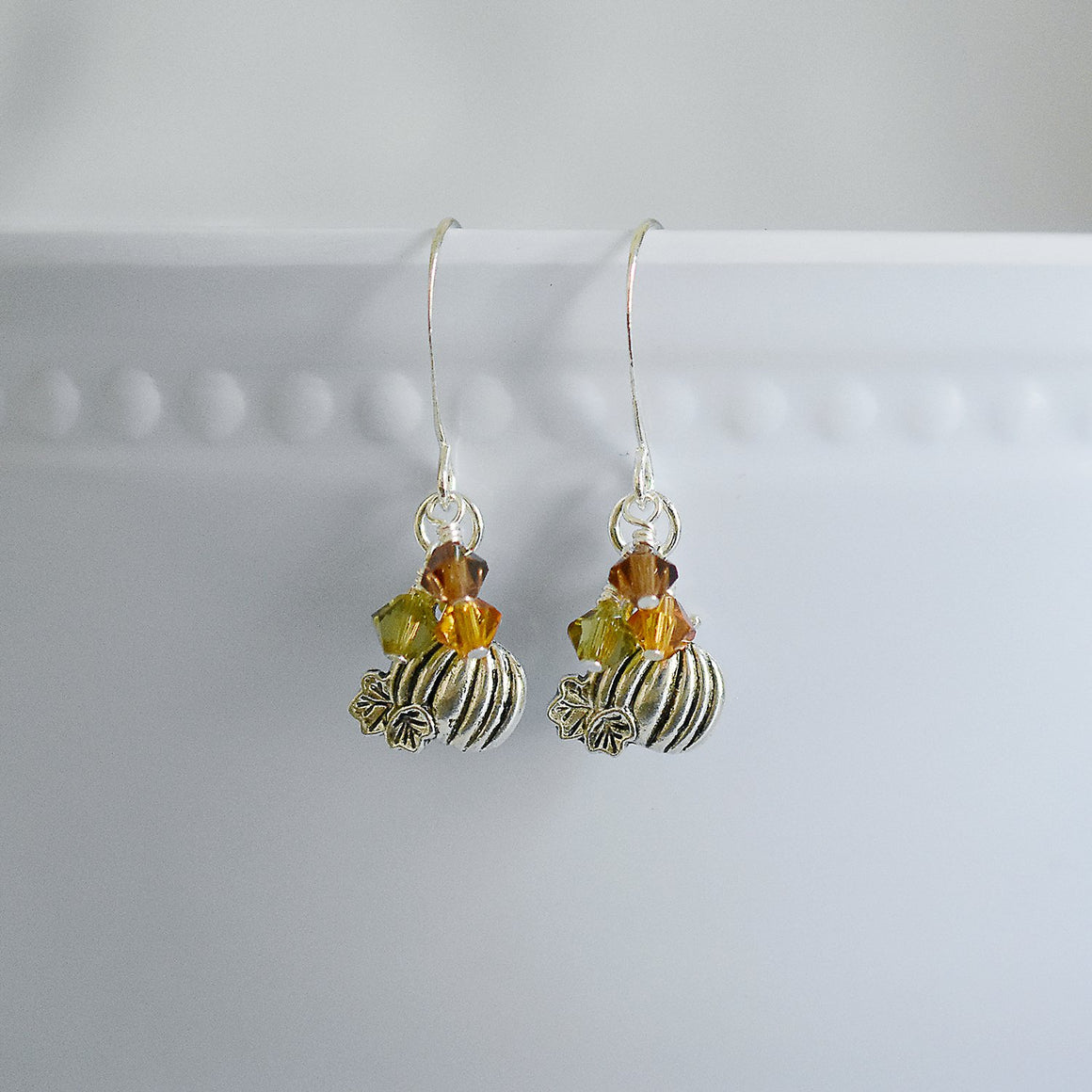 Dainty Pumpkin Earrings
