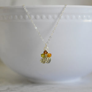 Fall Pumpkin Necklace