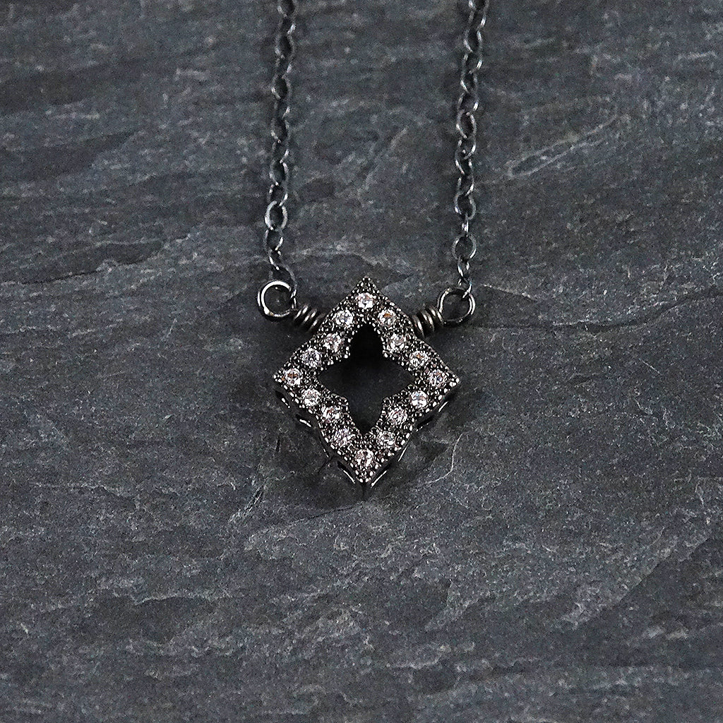 Oxidized Sterling Silver Necklace