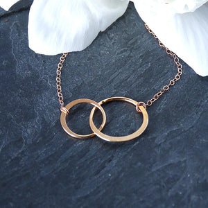 Rose Gold Mother Daughter Necklace