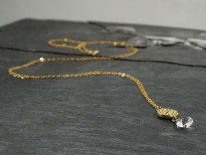 Long Gold Pendant Necklace
