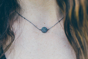 Oxidized Silver Layering Necklace