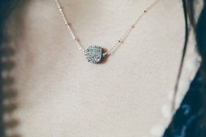 Druzy Gemstone Necklace