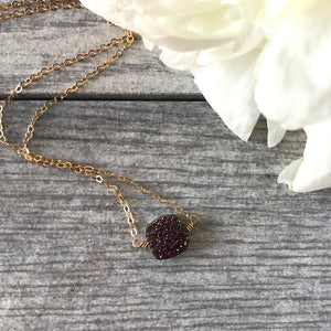 Druzy Geode Pendant Necklace
