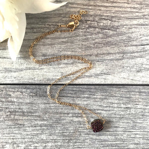 Purple & Gold Necklace
