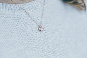 Geometric Rose Gold Necklace