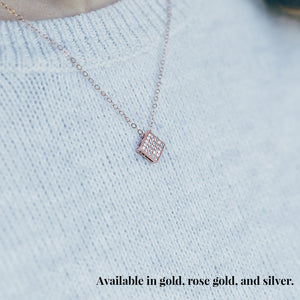 Silver Geometric Pendant Necklace
