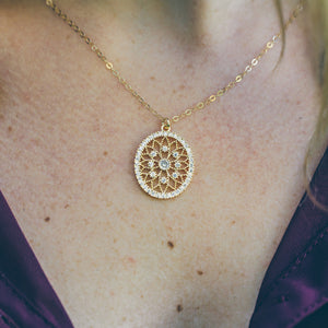 Gold Pendant Necklace for Her