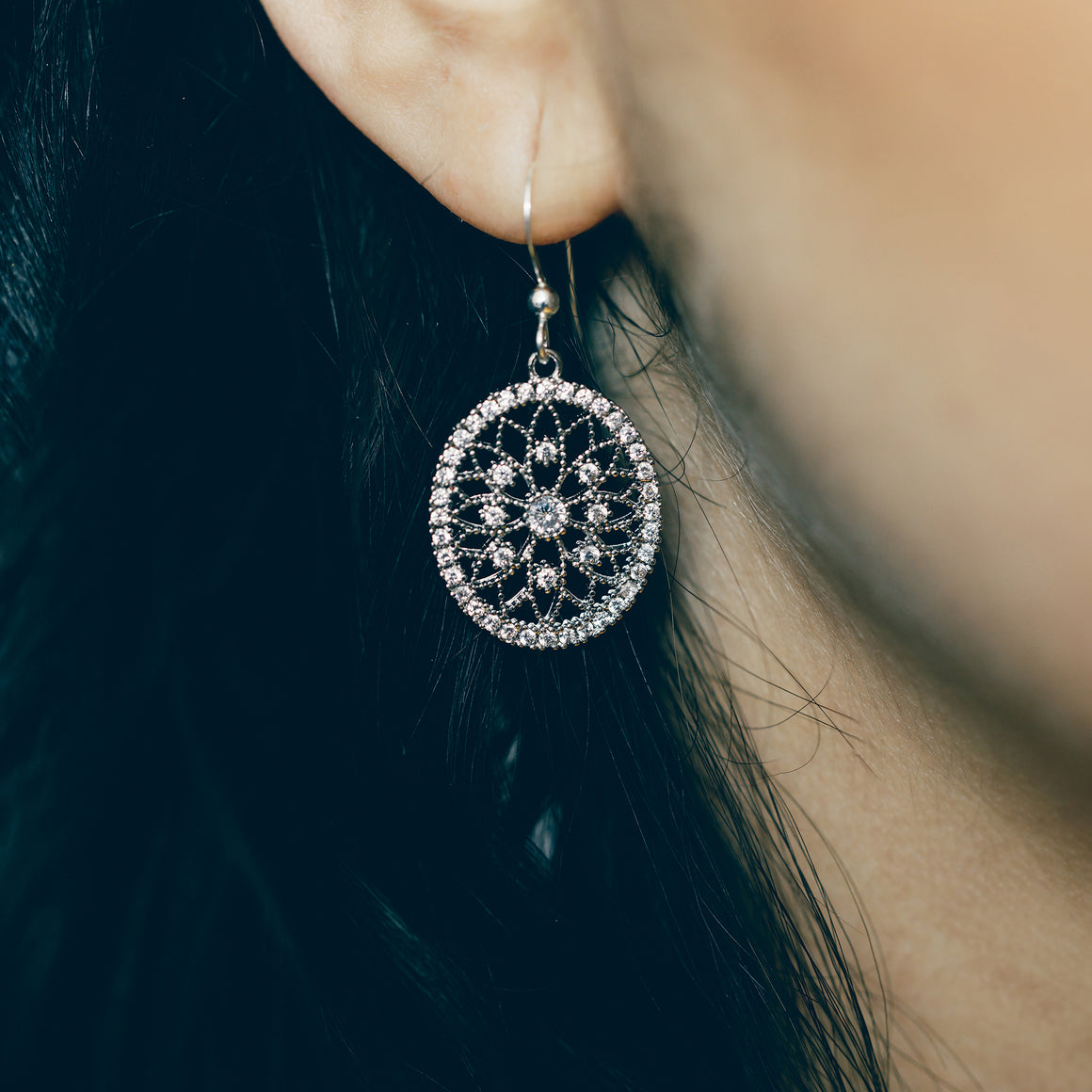 Vintage Inspired Silver Earrings