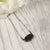 Black & Oxidized Silver Druzy Necklace
