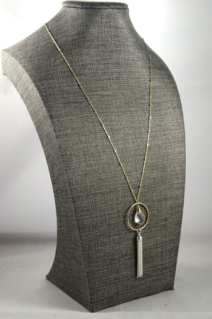 Long Necklace in Silver and Gold