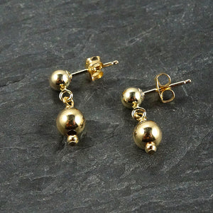 Tiny Gold-Filled Dainty Drop Earrings