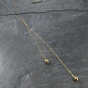 Knotted Gold Necklace