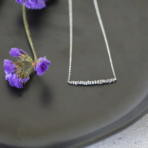 Raw Grey Diamond Sterling Silver Necklace