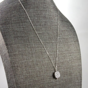 Silver Druzy Necklace Gift for Her