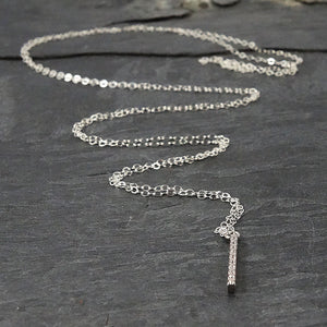 Cubic Zirconia Silver Pendant Necklace