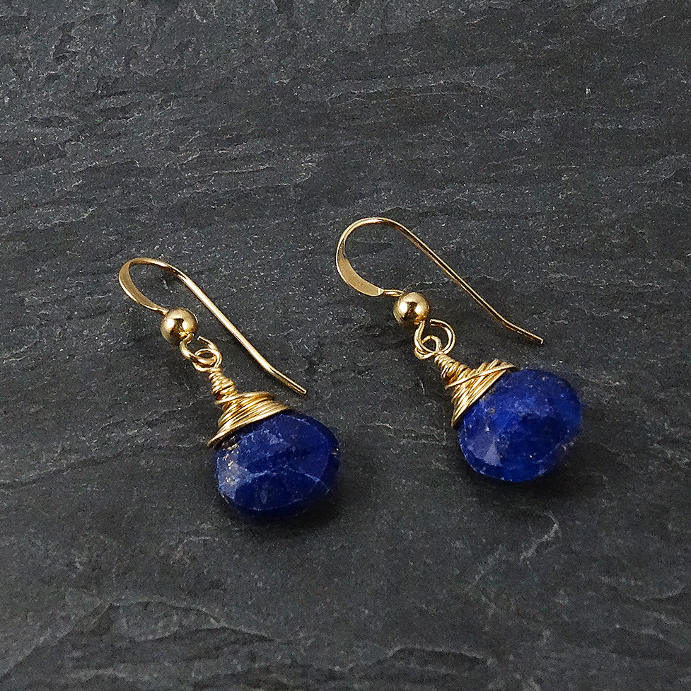 Lapis Lazuli Teardrop Earrings
